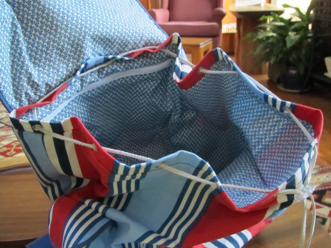 1388 Backpacks - interfacing and drawstring - Andrea Schewe Design