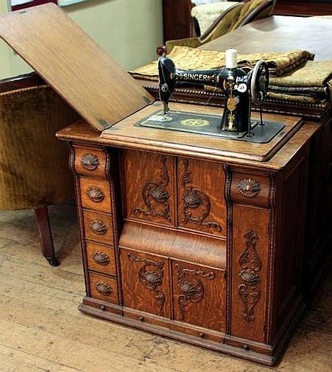 This One And The Following Model Are From 1890s Before They Figured Out How To Have Machine Fold Down Into Table When Folded Up